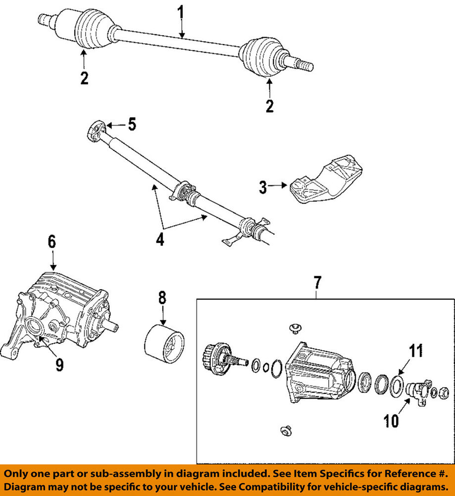 details about chrysler oem 04-06 pacifica rear differential-axle seals  5134787ab