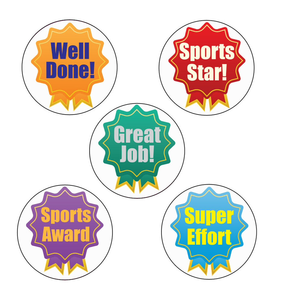 Details about 125 x rosette participant sports stickers great sports day stickers more