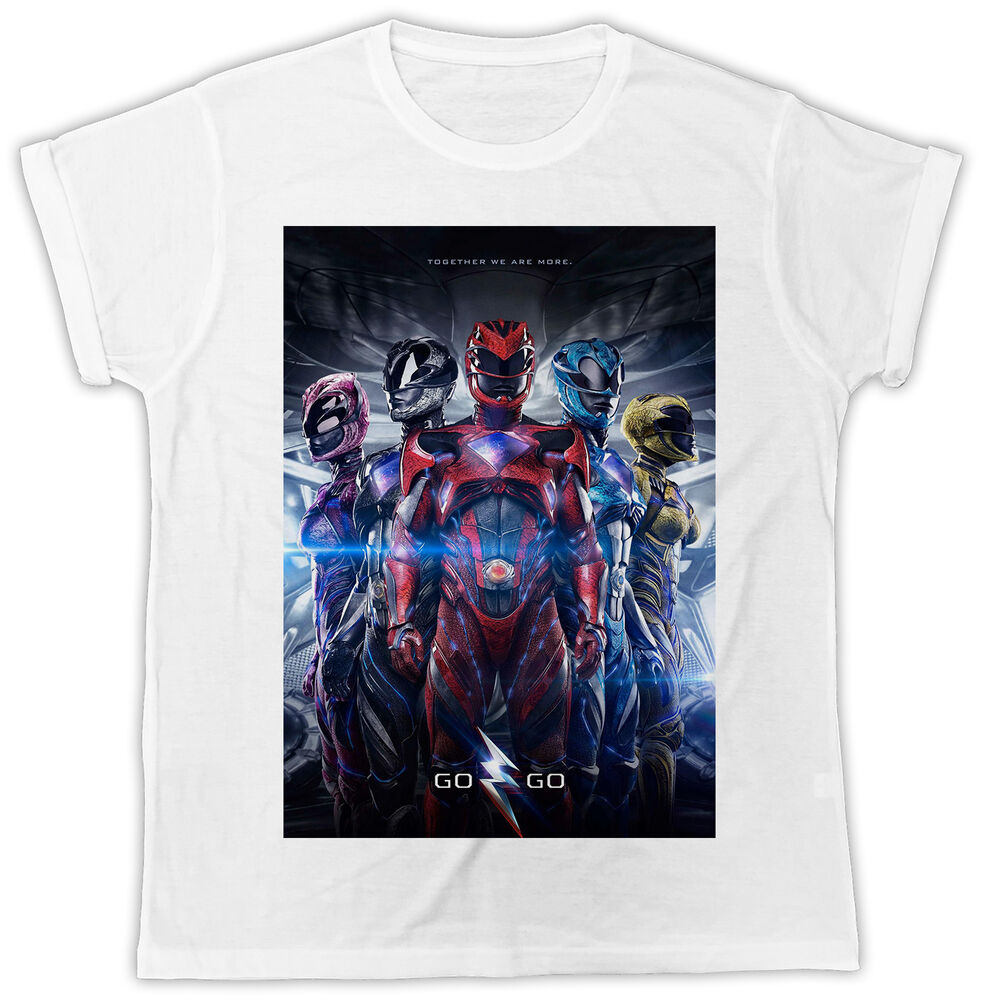 07946a2e FUNNY COOL POWER RANGERS POSTER COOL FASHION IDEAL GIFT UNISEX MENS TSHIRT  | eBay