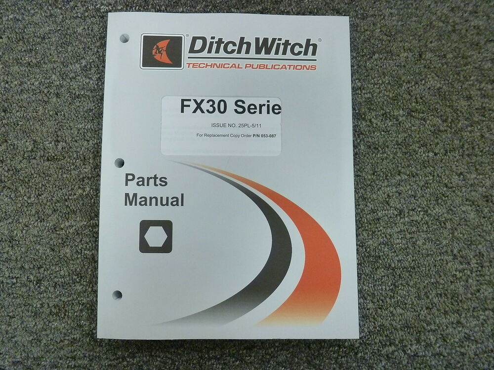ditch witch fx30 series vacuum excavator parts catalog manual book rh ebay com Ditch Witch FX30 Specs Ditch Witch FX-60