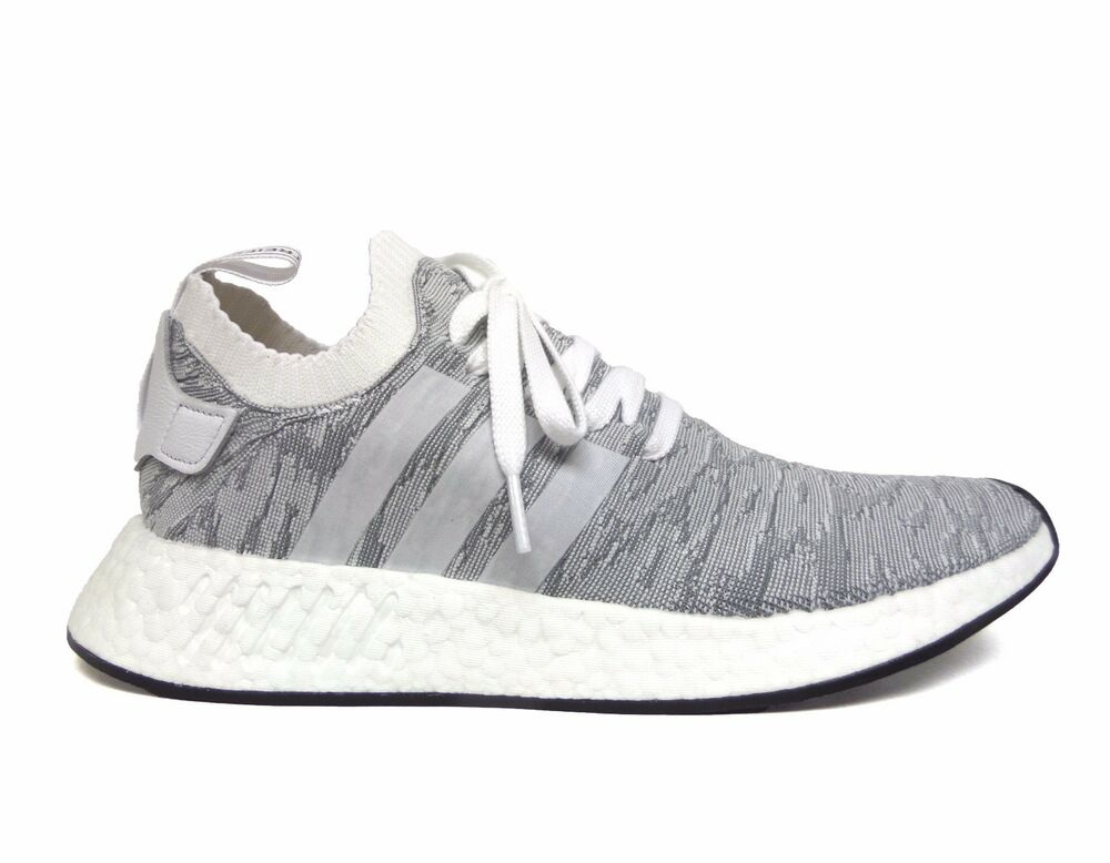 more photos 7e626 6b8fb Details about Adidas Men s ORIGINALS NMD R2 PRIMEKNIT Running Shoes White Black  BY9410 b