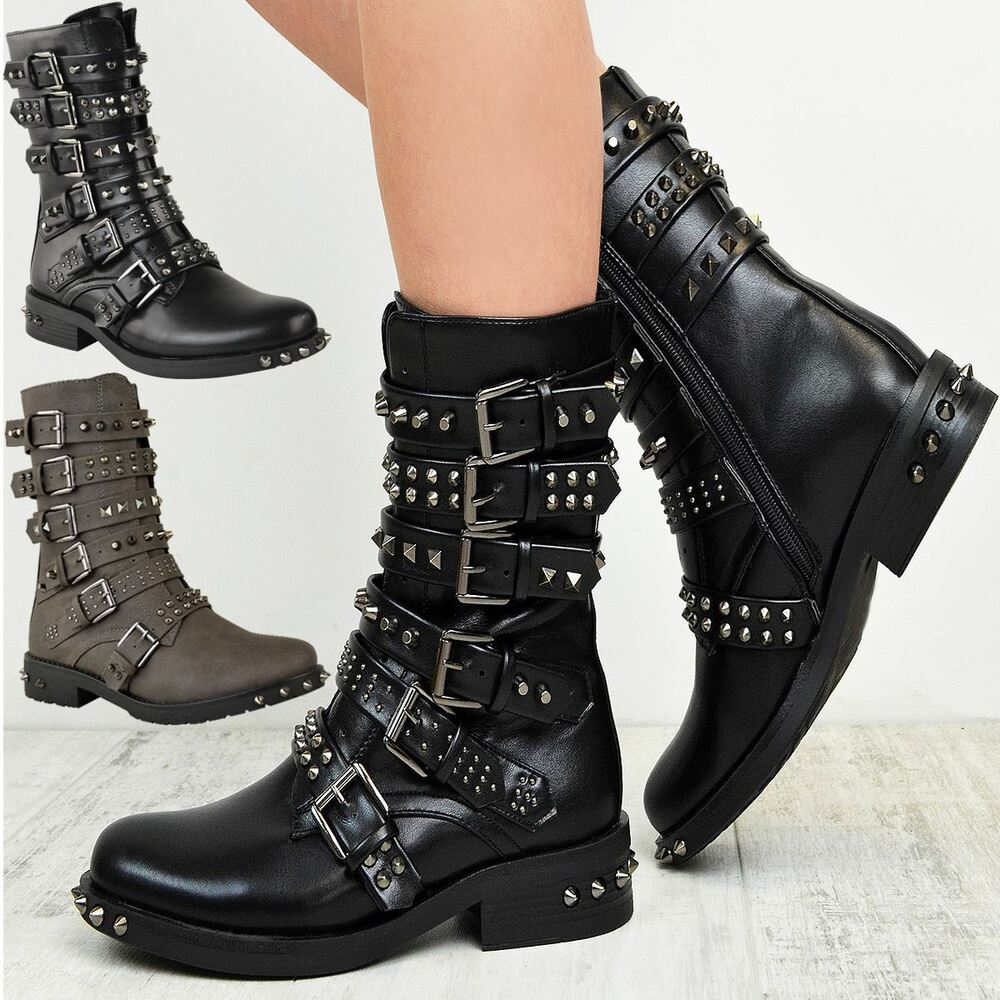 Women S Buckle Ankle Boots Uk