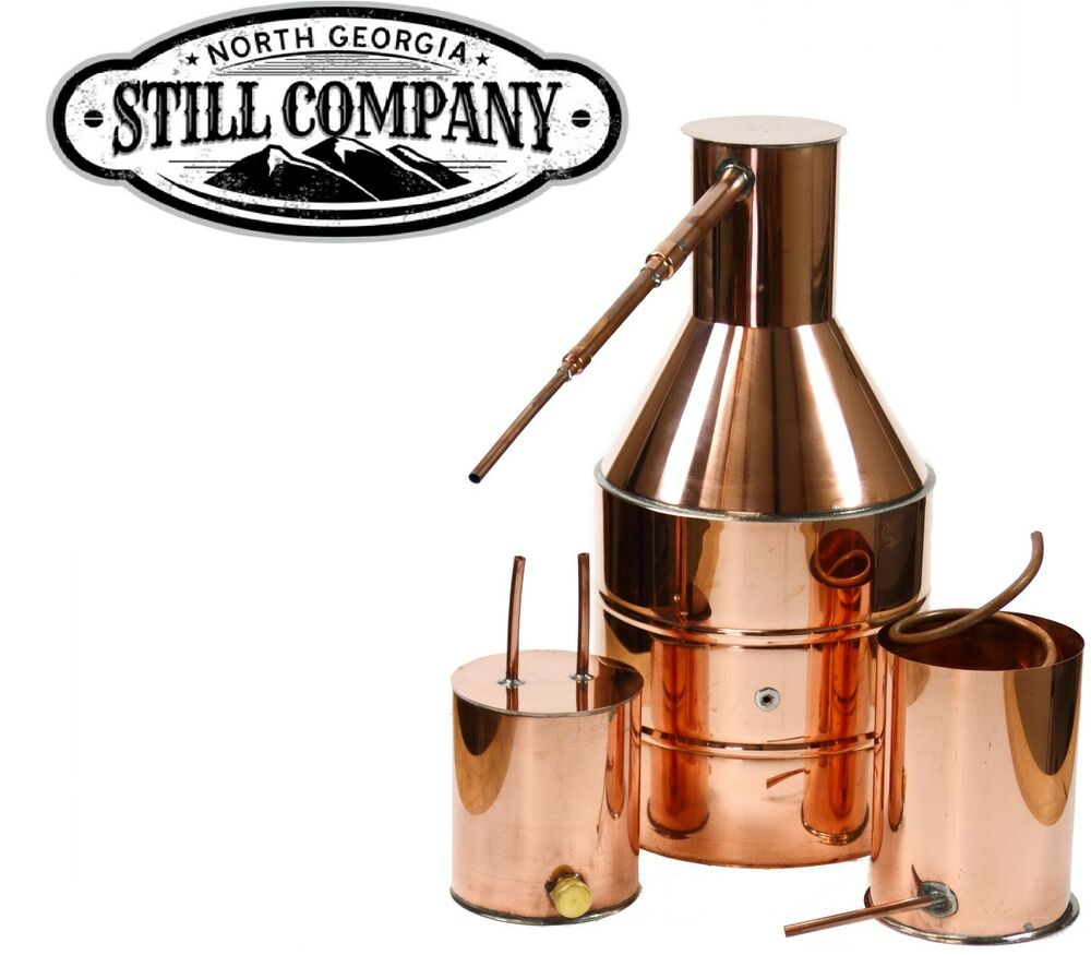 5 GALLON COPPER MOONSHINE STILL WITH WORM & THUMPER | eBay
