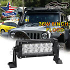 1X 8'' 36W LED Work Light Bar 4WD SUV Driving Lamp Offroad  Combo(Spot+Flood)