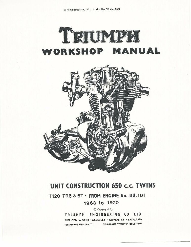 triumph workshop service manual 1963 1964 1965 1966 1967 tiger rh ebay com 1973 Triumph Bonneville 1969 Triumph Tiger 650