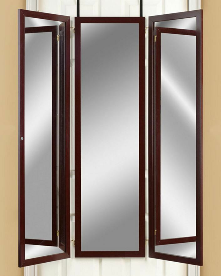 Exceptionnel Over The Door Mirror Dressing Room Tri Fold Mirrors Hanging 3 Panel Full  Length | EBay