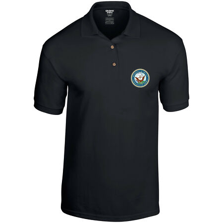 img-Department of the Navy US Navy United States Military Mens Polo Shirt