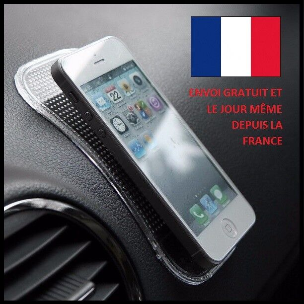 TAPIS ANTIDERAPANT VOITURE SMARTPHONE SILICONE IPHONE SUPPORT CUISINE  COLLANT  eb3f0347749