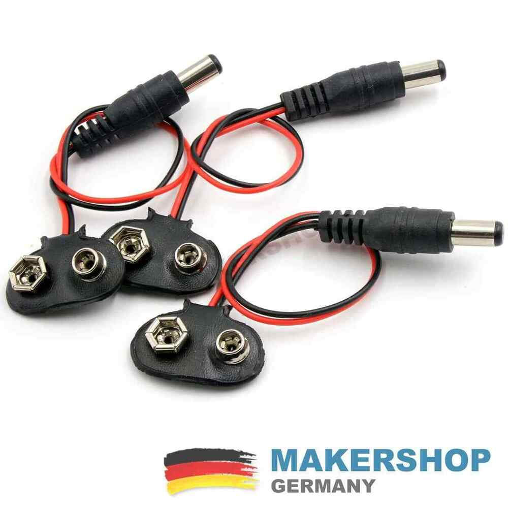3x 9 volt batteriehalter clip blockbatterie batterie halterung 9v dc buchse ebay. Black Bedroom Furniture Sets. Home Design Ideas