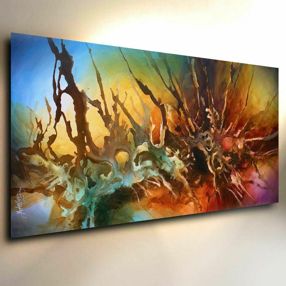 What Are Contemporary: Abstract Painting Giclee Canvas Print Michael Lang Art
