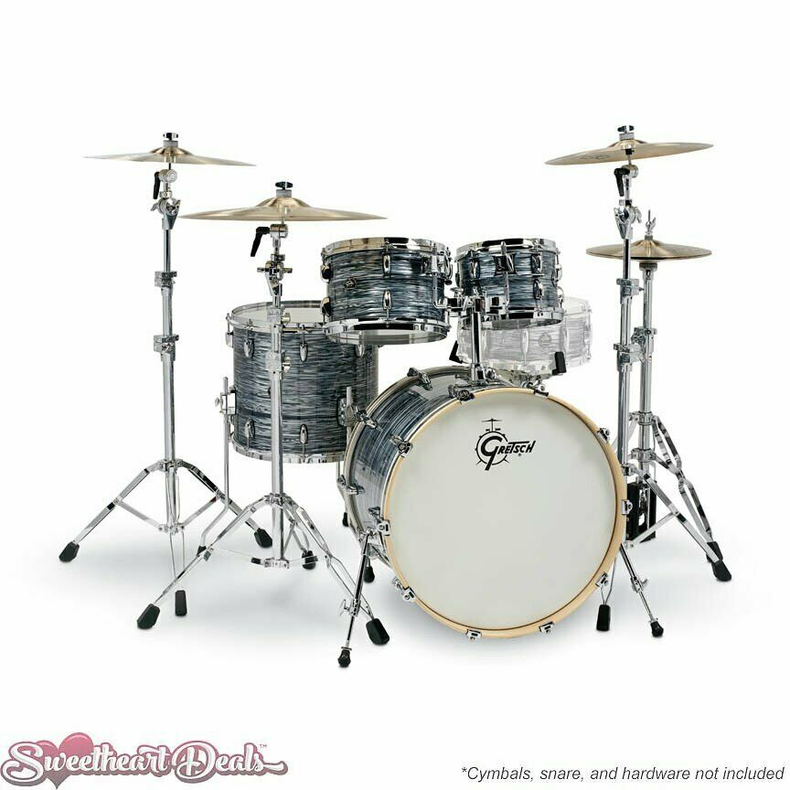 gretsch renown 4 piece drum set shell pack 22 10 12 16 silver oyster pearl 647139384450 ebay. Black Bedroom Furniture Sets. Home Design Ideas