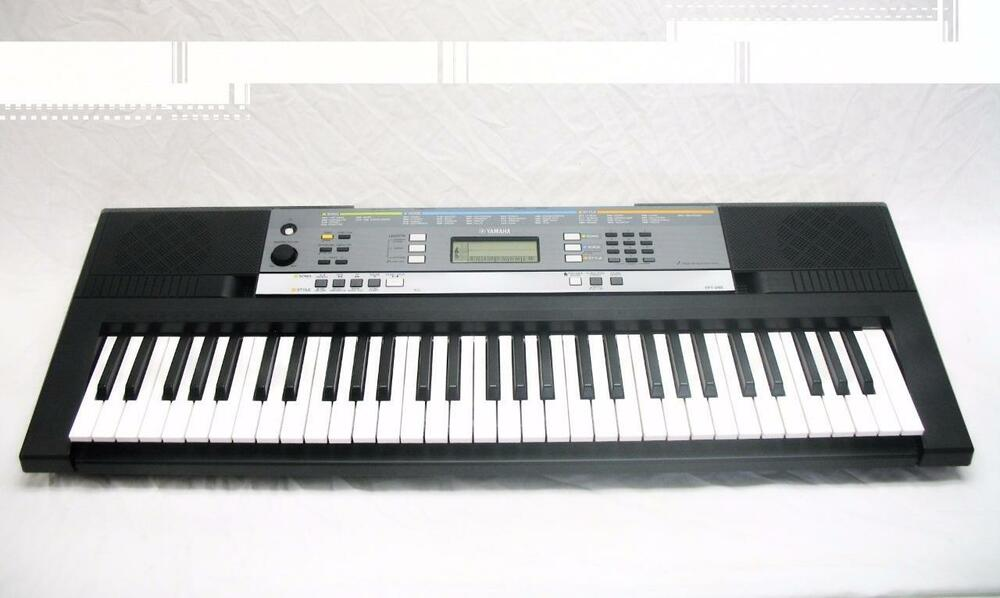 yamaha ypt 240 61 key portable keyboard w 504 voices ebay. Black Bedroom Furniture Sets. Home Design Ideas