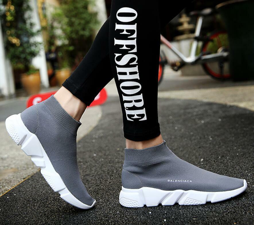 a621d5580fef Details about Hot Sale Mens Pointed Toe Ankle Stretchy Boots Walk Sneakers  Socks Shoes EU39-44