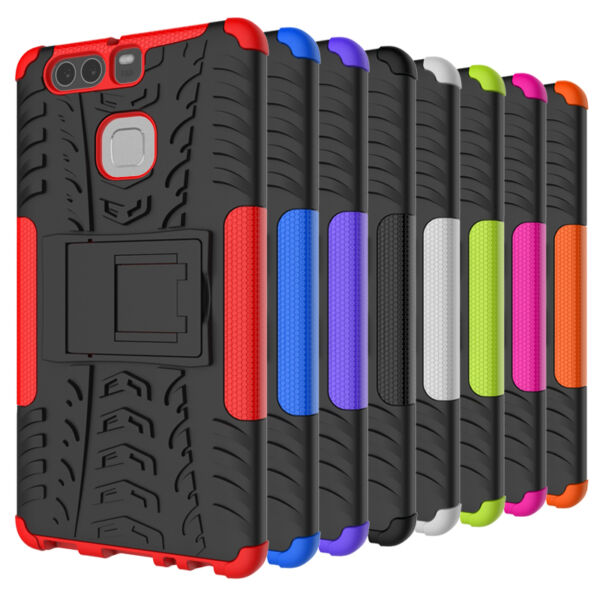For Huawei P9 Phone Case HeavyDuty Strong ShockProof Hard Protective Stand Cover