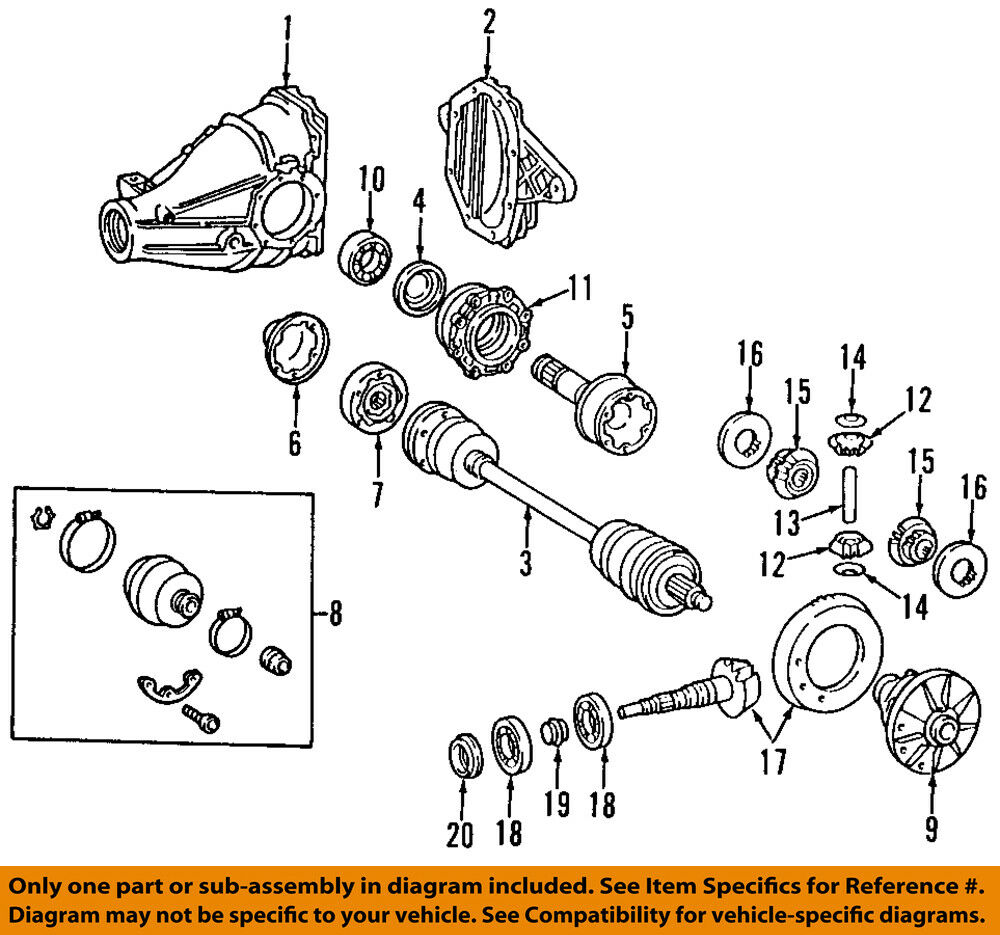 details about mercedes mercedes-benz oem 04-09 sl600-rear axle assembly or  cv shaft 2303504110