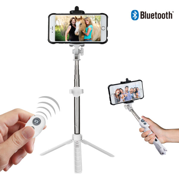 Selfie Stick Trépied Telescopique Phone Mobile Bluetooth + télécommande sans fil