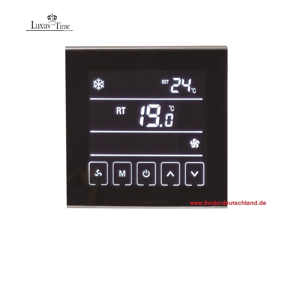 raumthermostat lcd thermostat touchscreen t901 f r heizung luft klima heizl fter ebay. Black Bedroom Furniture Sets. Home Design Ideas