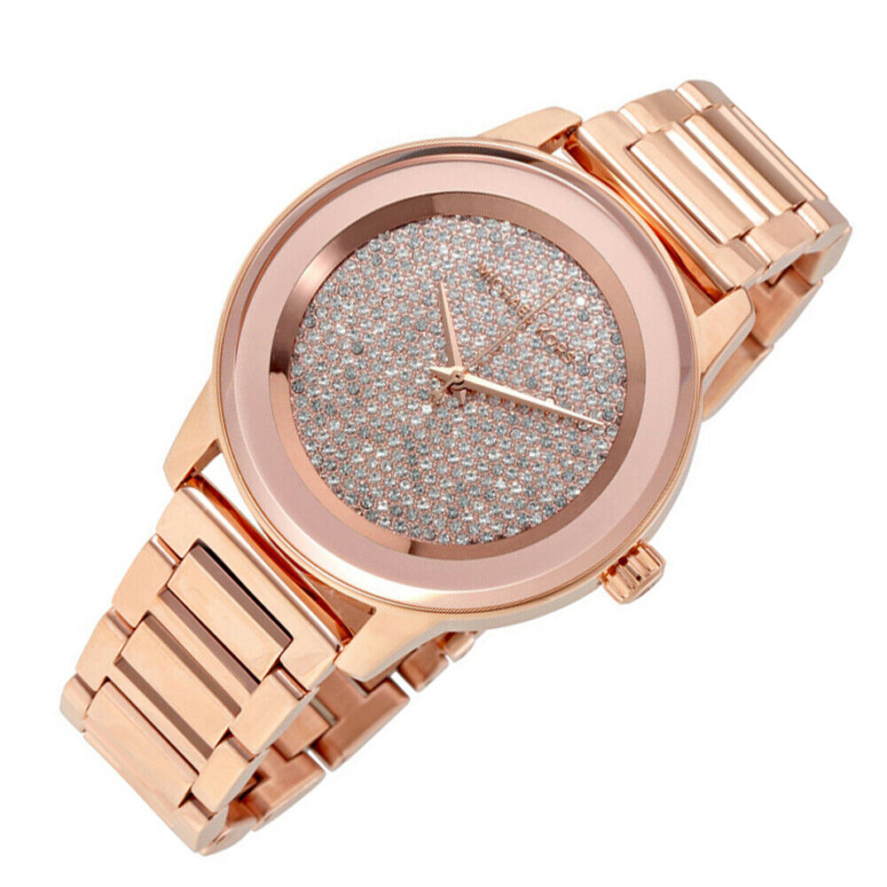 ca110239446f New In Box Michael Kors MK6210 Kinley Pave Dial Rose Gold Bracelet Women s  Watch