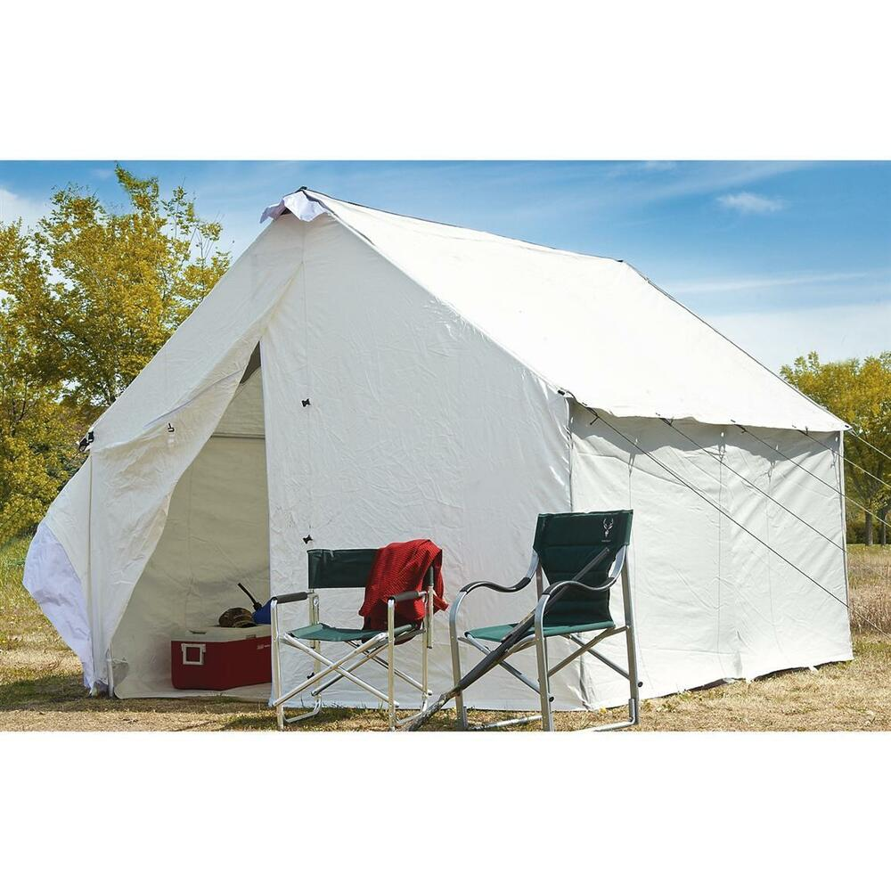 12 X 10 Canvas Wall Tent Complete Bundle W Floor Amp Frame