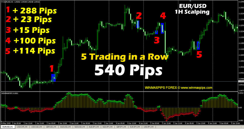 Trading software with buy sell indicators