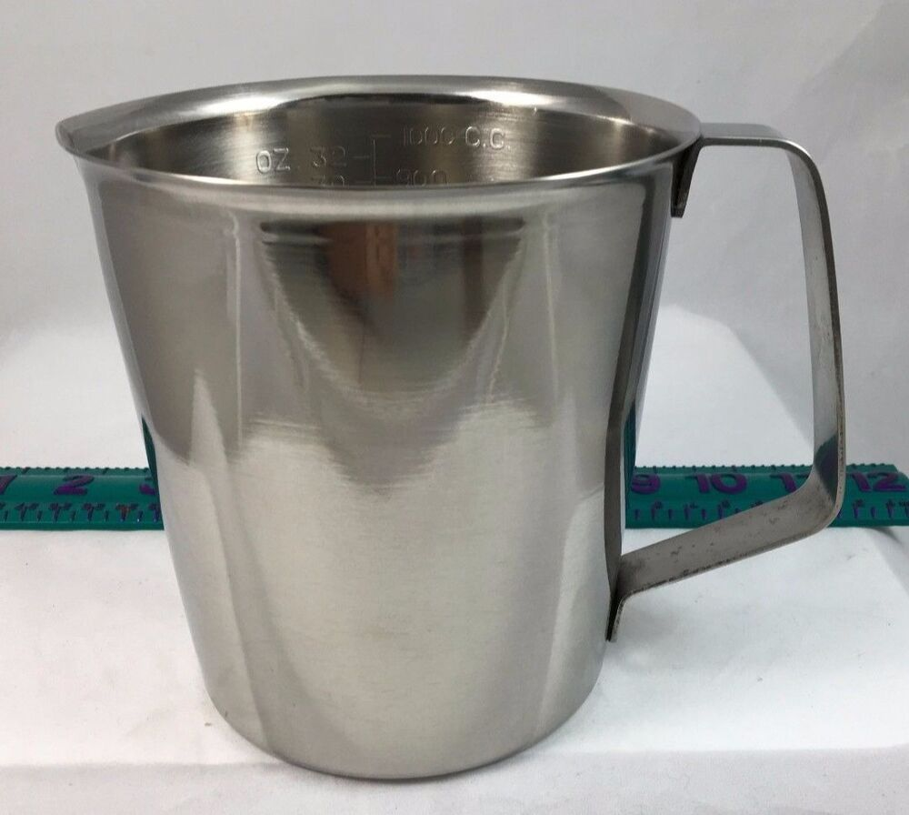 Measuring Cup Pourer Frothing Pitcher 32oz 1000ml ...