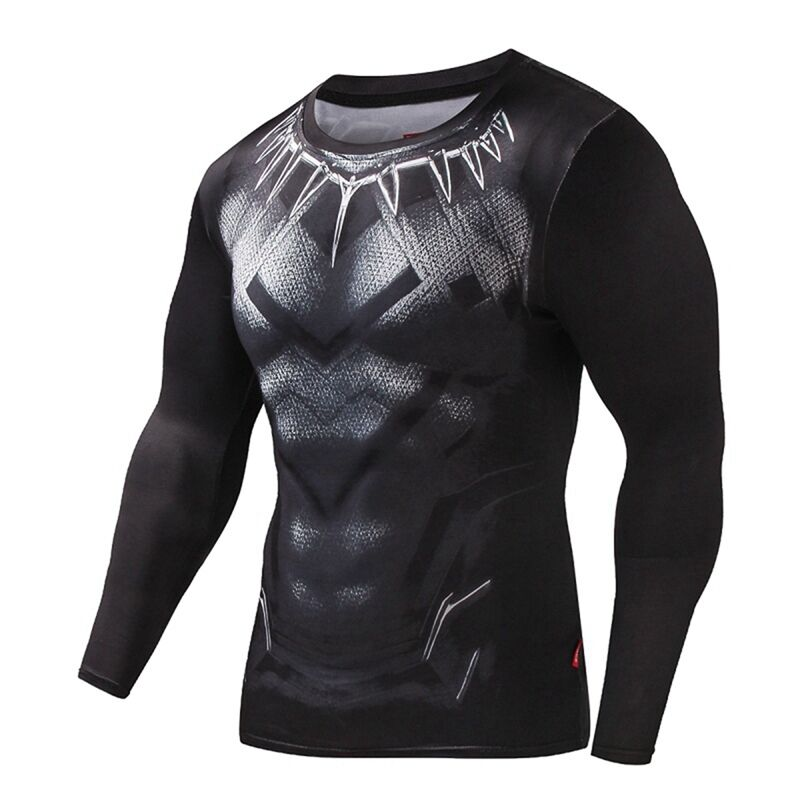 3d printed t shirt compression superhero black panther for Compressed promotional t shirts