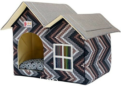 Luxury Pet Product Indoor Outdoor Pet Dog House Cage Bed