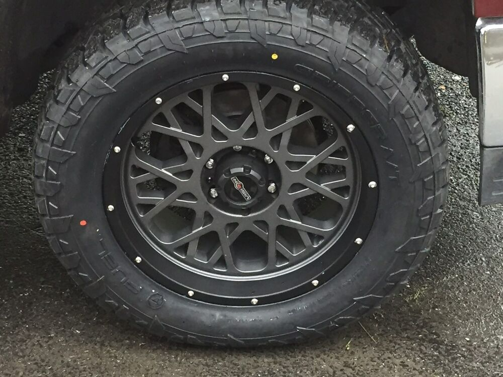 """Wheel And Tire Package Deals >> 20"""" Vision 412 Rocker Fuel AT 305/55R20 Wheel and Tire Package Ford F150 6x135 