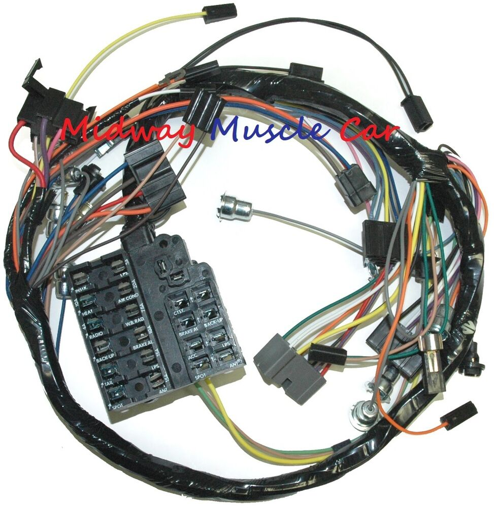 dash wiring harness with fuseblock 58 62 chevy impala. Black Bedroom Furniture Sets. Home Design Ideas