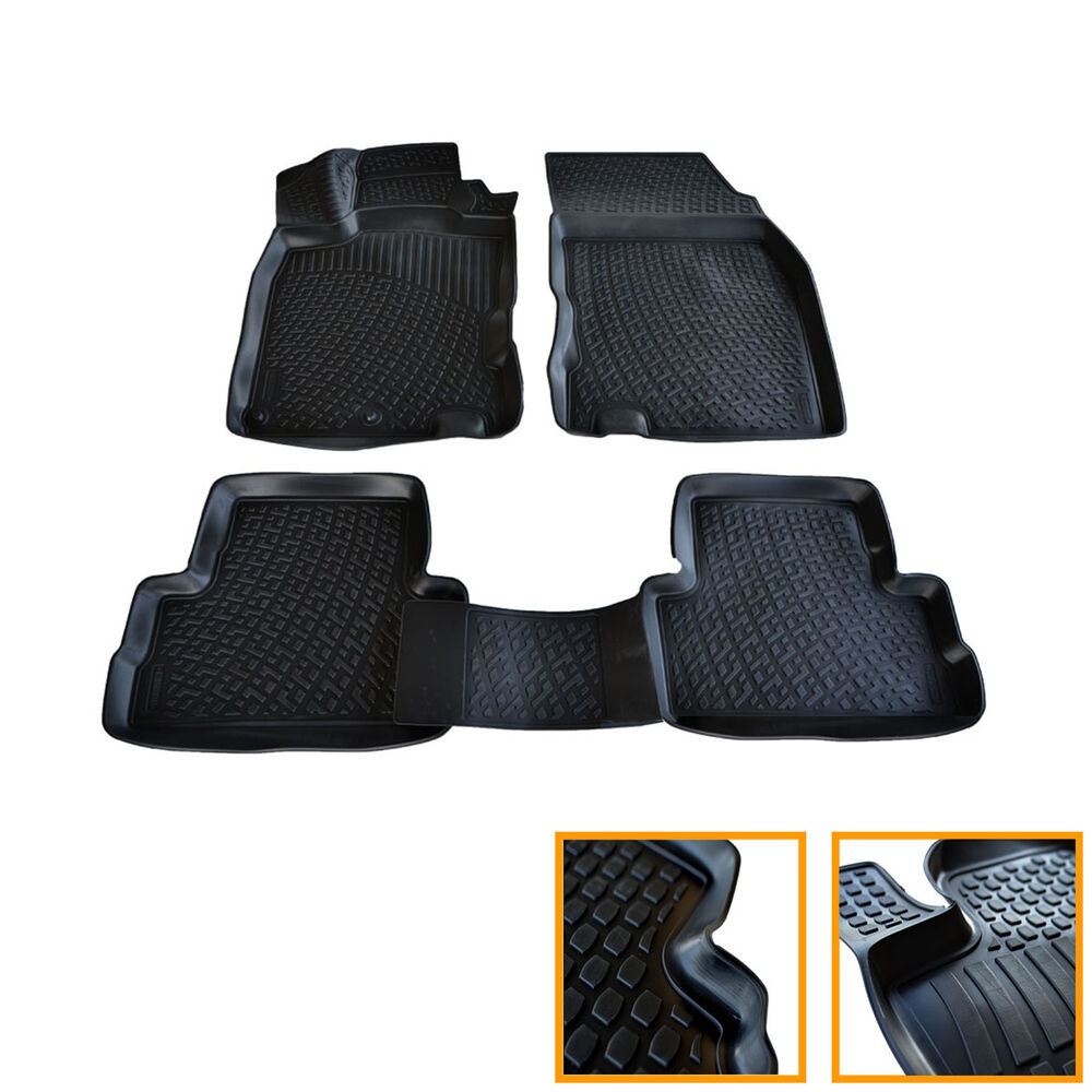 tapis sol caoutchouc sur mesure 3d tpe nissan qashqai ii j11 2014 up tous ebay. Black Bedroom Furniture Sets. Home Design Ideas
