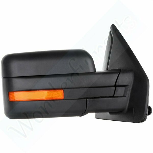 For 2007-14 Ford F150 Power Heated Led Signals Passenger Side View Mirror Right