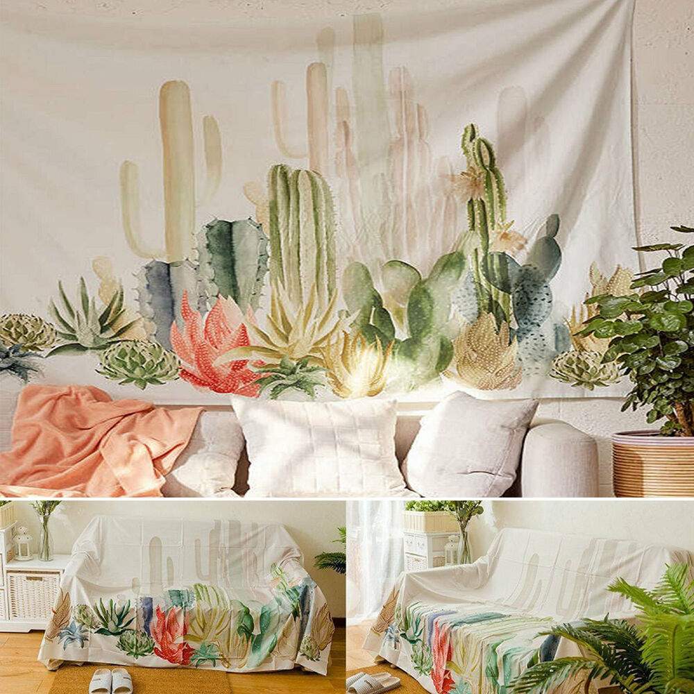 desert cactus sunset tapestry wall hanging living room bedroom dorm decor cq1951 ebay. Black Bedroom Furniture Sets. Home Design Ideas