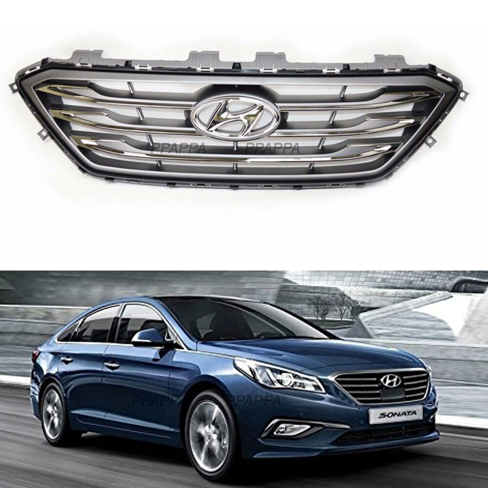 Details About Oem Genuine Front Radiator Grill For Hyundai Sonata Turbo 2017 2016