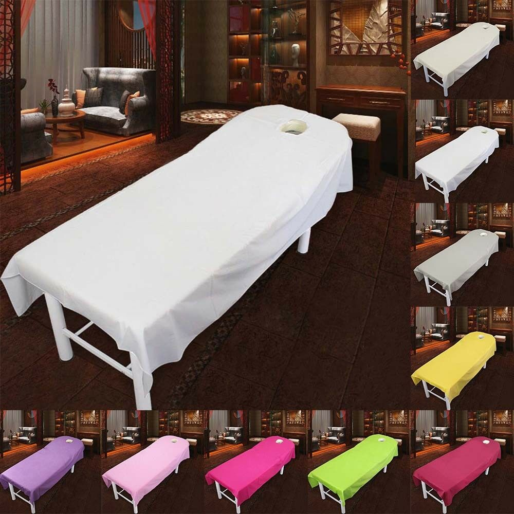 soft beauty massage bed table cotton cover salon spa couch
