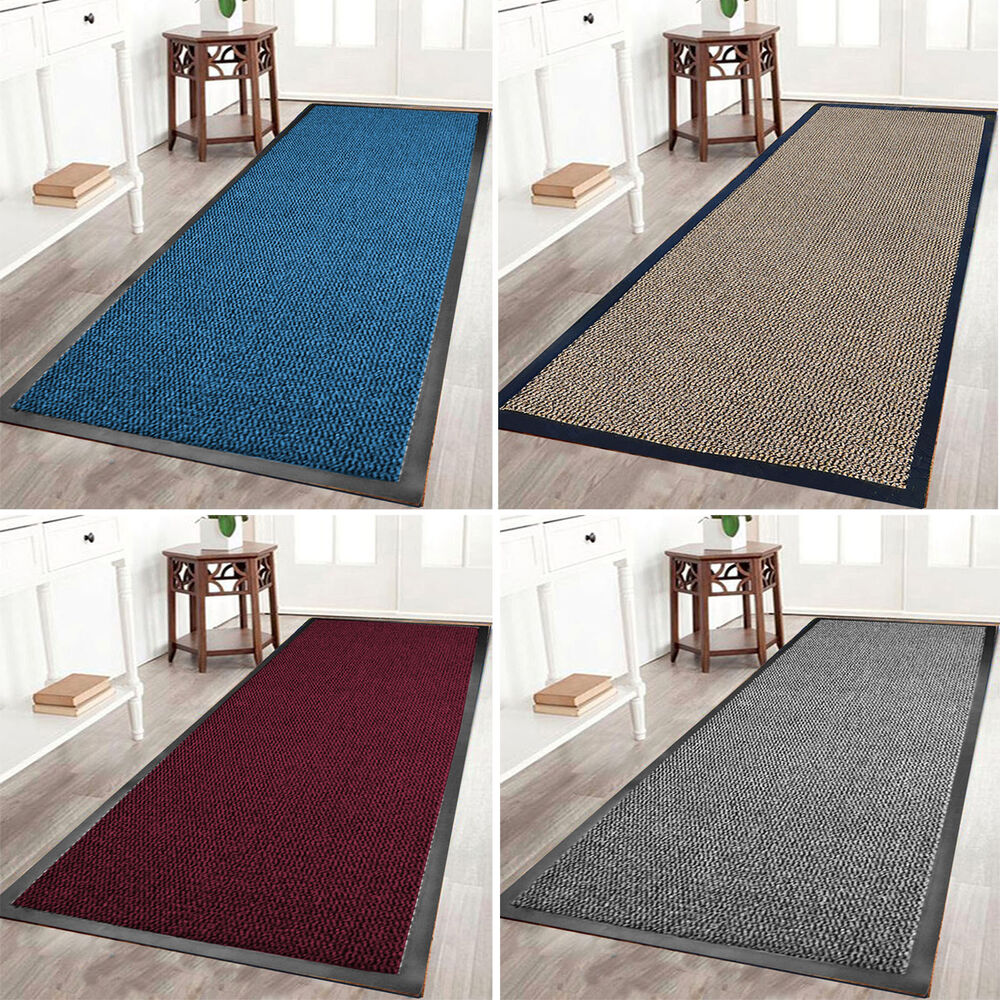 Heavy Duty Rubber Barrier Non Slip Mat Large Small Rugs