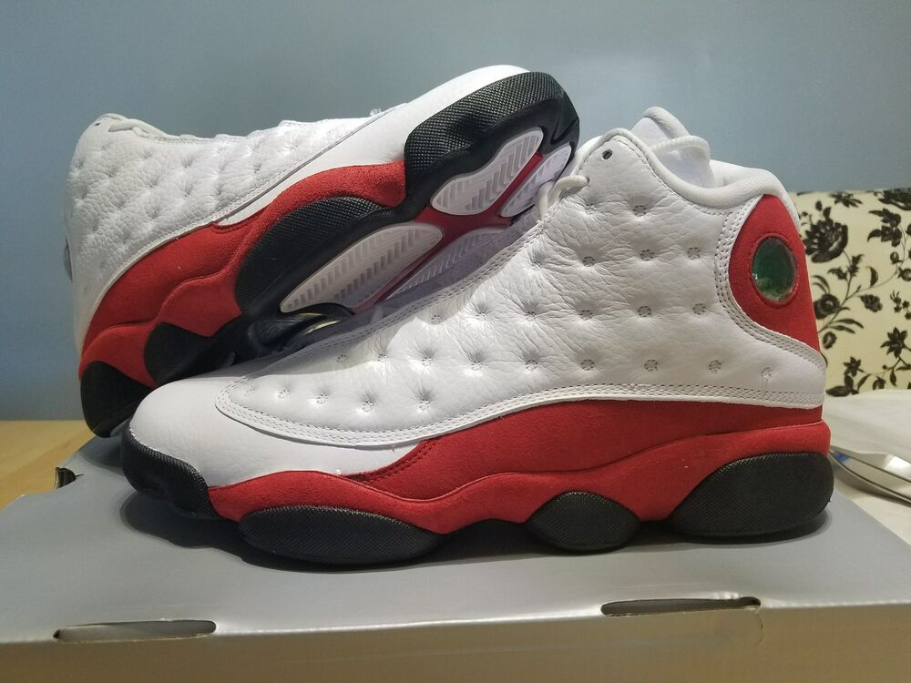 2d79f03ec3d6 Details about Nike Air Jordan 13 White Red OG 2017 XIII Retro Chicago Cherry  Team 881427-122