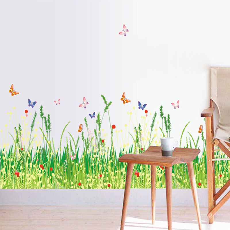 smart fresh grass wall stickers removable decal mural wallpaper home
