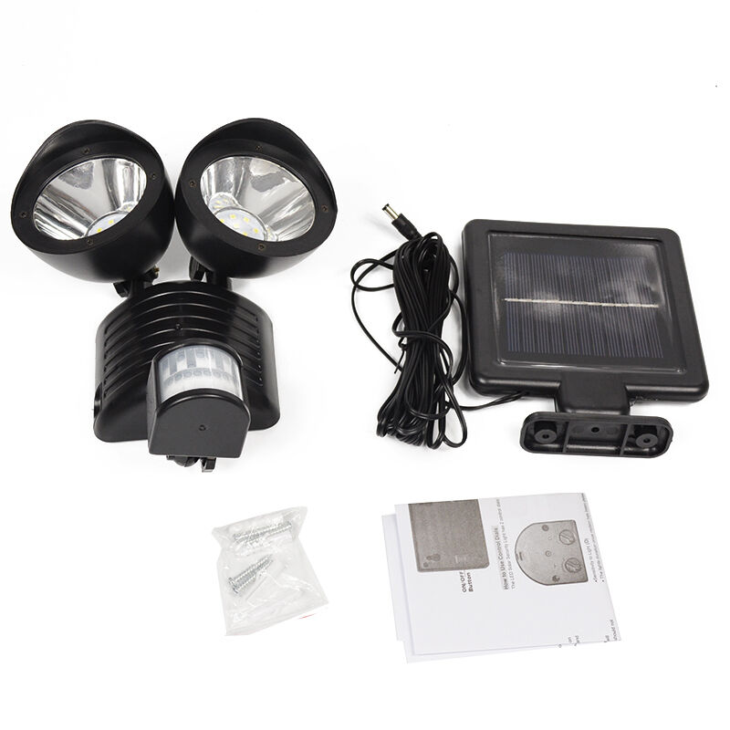 Solar power motion sensor light 22 led dual head security floodlight this twin head solar security light features easy diy installation with a 5m cable provided for users it has twin heads that can swivel and tilt aloadofball Gallery