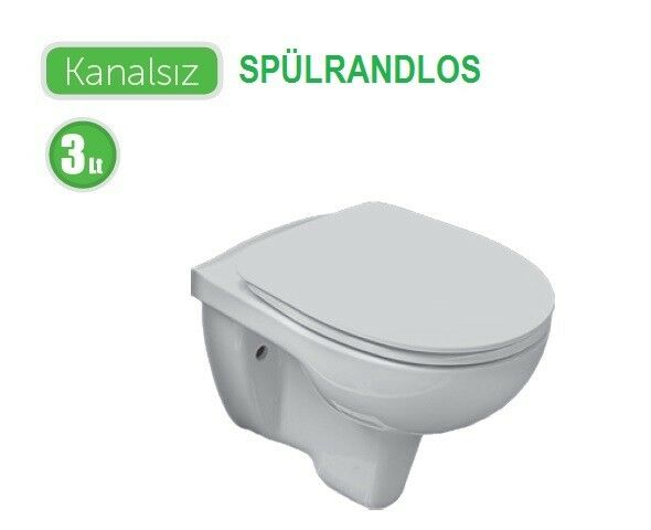 sp lrandlos wand wc taharat bidet funktion taharet mit soft close deckel ebay. Black Bedroom Furniture Sets. Home Design Ideas