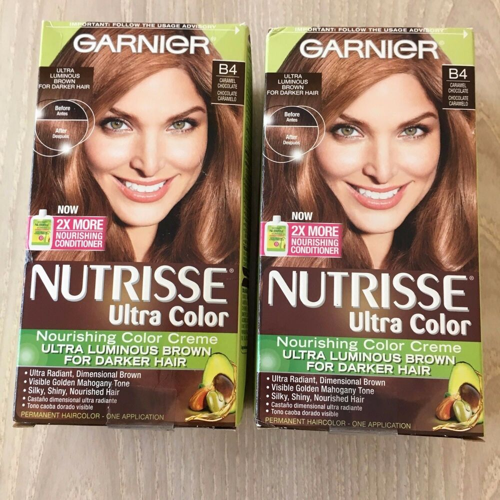 2x Garnier B4 Caramelchoc0late 3x Fruit Oils Nourishing Permanent Hair Color Ebay