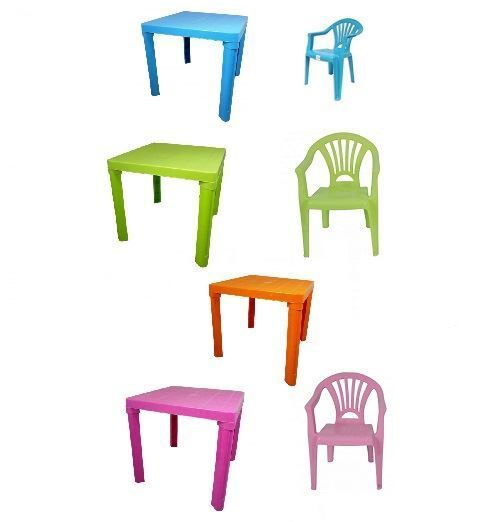 new plastic childrens table chairs set coloured nursery. Black Bedroom Furniture Sets. Home Design Ideas