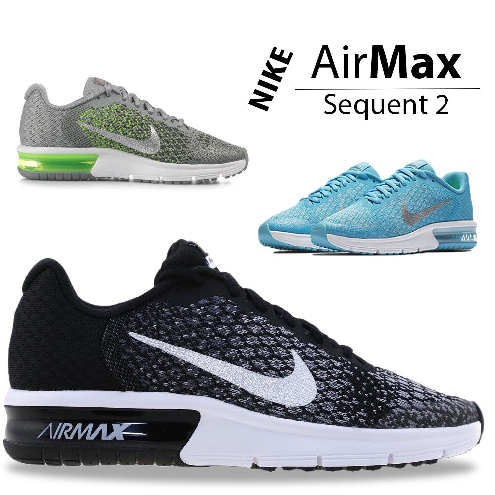 super popular 26dcd 0f2ae Details about Nike Air Max Sequent Kids Trainers Boys Girls Kid Children  Sports School Shoe
