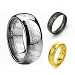 Lord Of The Rings Men's Cool Titanium Steel Rings Jewelry Decor Multicolor