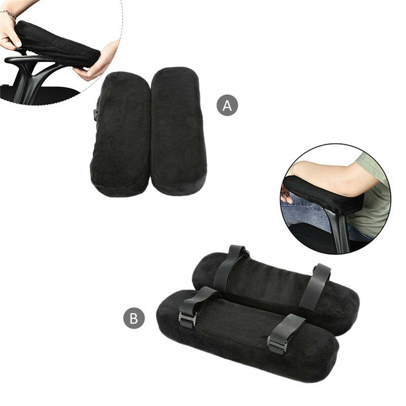 1 pair office chair arm rest pads covers ergonomic memory foam elbow pillows ebay. Black Bedroom Furniture Sets. Home Design Ideas