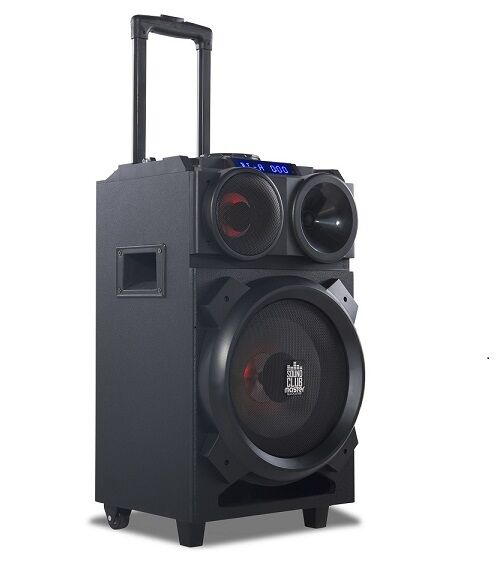 soundclub master tragbare akku stereoanlage karaoke bluetooth lautsprecher mobil ebay. Black Bedroom Furniture Sets. Home Design Ideas