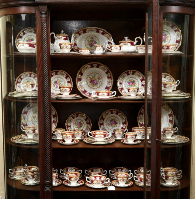 royal albert lady hamilton teeservice geschirr english bone china ebay. Black Bedroom Furniture Sets. Home Design Ideas