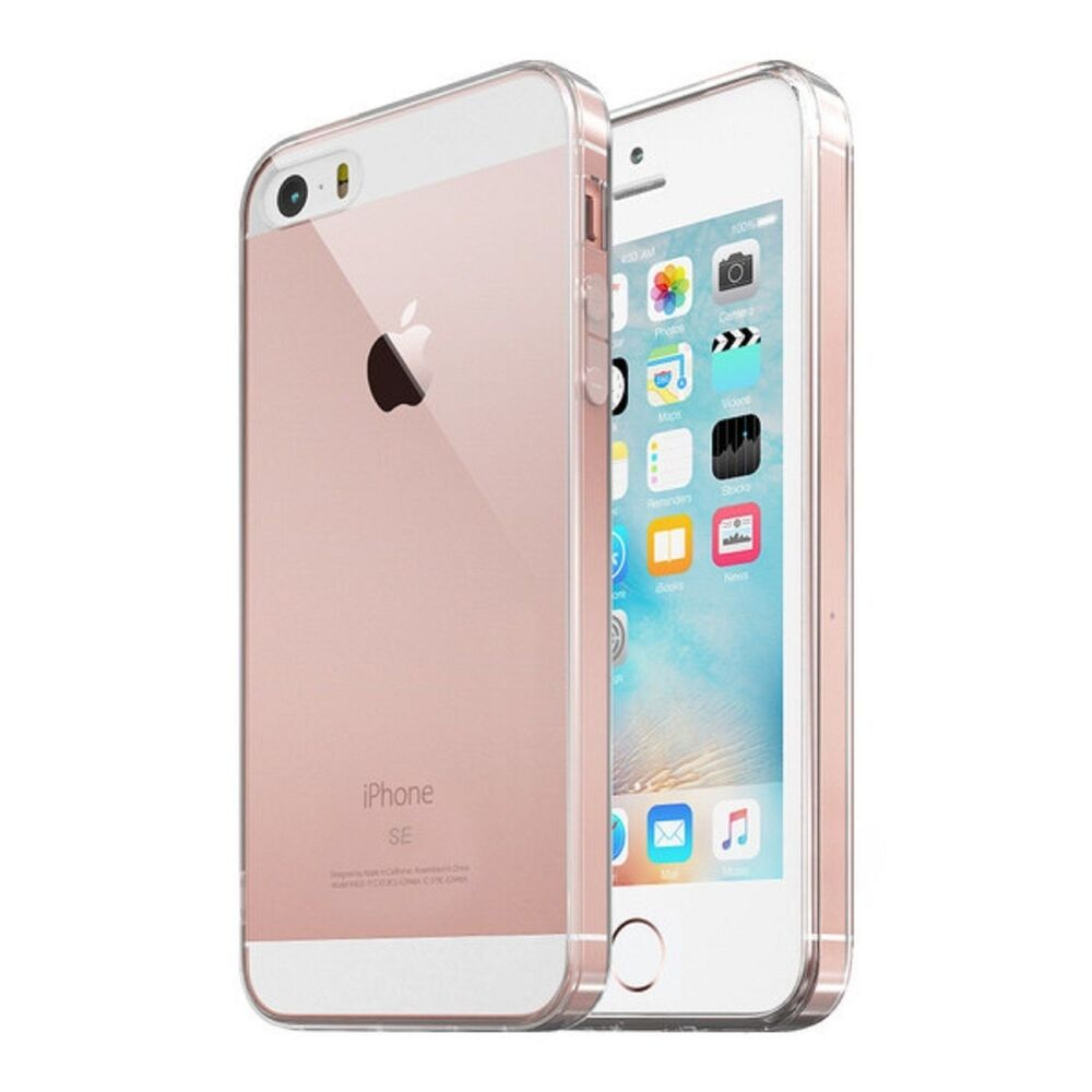 for apple iphone se 5s 5 case silicone clear shockproof rubber protective tpu ebay. Black Bedroom Furniture Sets. Home Design Ideas