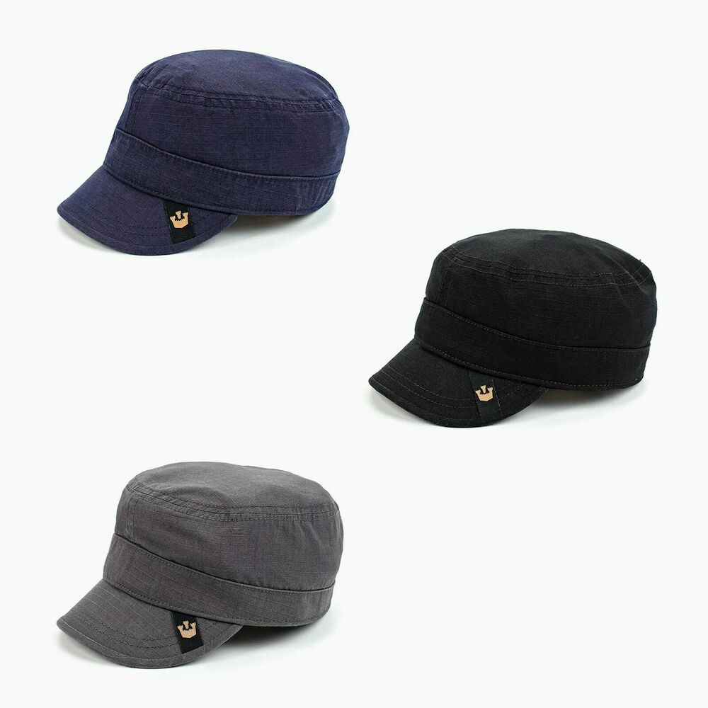 fc75b9f73cdd2 Details about GOORIN BROTHERS CADET PRIVATE HAT CAP MILITARY VINTAGE COTTON  BLACK NAVY NEW
