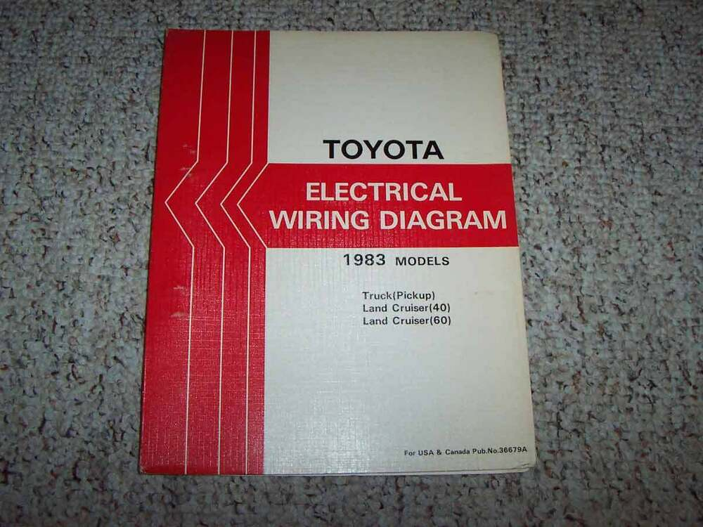 1983 Toyota Truck Electrical Wiring Diagram Manual Mojave