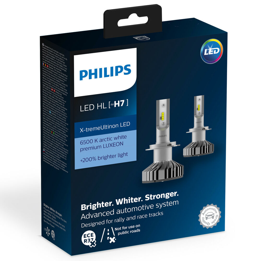 philips x treme ultinon led car headlight bulb h7 twin ebay. Black Bedroom Furniture Sets. Home Design Ideas